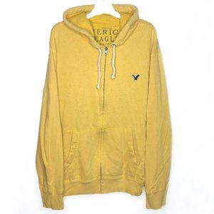 American Eagle Outfitters Yellow Zip Up Jacket XXL